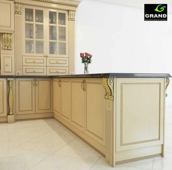 طراحی 3بعدی آشپزخانه کلاسیک