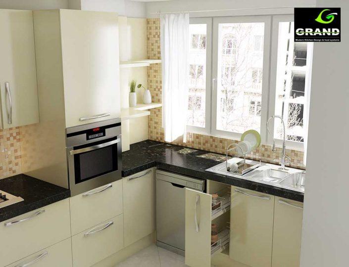 طراحی سه بعدی آشپزخانه
